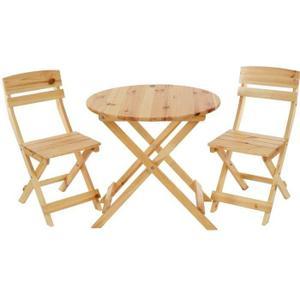 Table ronde de jardin avec 2 chaises Achat / Vente Table ronde de