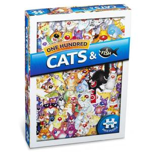 PUZZLE Puzzle Paul Lamond Games 100 Cats and a Fish (100