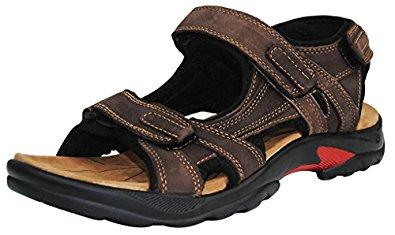iLoveSIA Sandales Homme cuir de vachette: Chaussures et