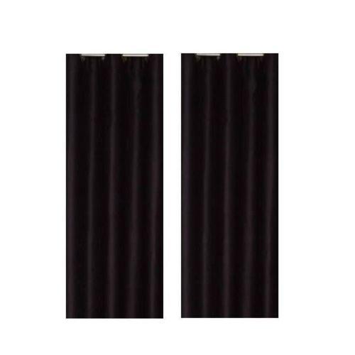 Mcd Paire de rideaux occultants Noir 140x260cm pas cher Achat