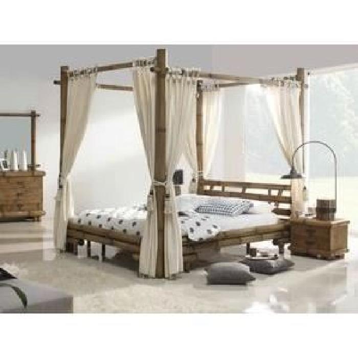 Lit Baldaquin Symba Bambou Achat / Vente ciel de lit