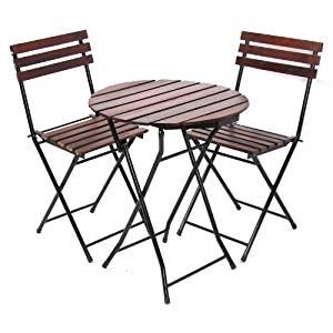 chaises, ronde (Ø=60cm), chaise pliantes, métal+bois