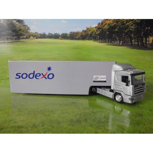 Camion Scania Movico Remorque Sodexo Tour De France Ech 1/43