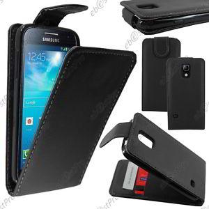 Coque A Rabat Flip Simili Cuir Noir Samsung Galaxy S5 Mini G800