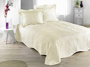 Couvre lit Jeté de lit Boutis Neptune Champagne 230×250 cm