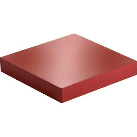 Etagère murale rouge rouge n°3 SPACEO, L 23.5 x P 23.5 cm Ep.38 mm