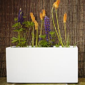 80cm blanc polystone jumbo auge jardin jardiniere/plante pot/grande