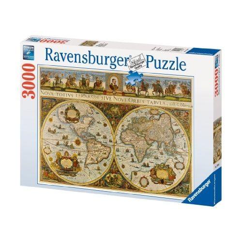 Ravensburger Puzzle Carte Du Monde,1665 3000 PiÈCES pas cher