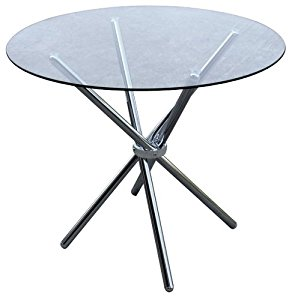 Table ronde Swithome Loggia Chrome/Verre trempé: Cuisine