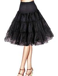 Petticoat longueur 66cm/26″ Robe Tutu Noire Blanche Rouge