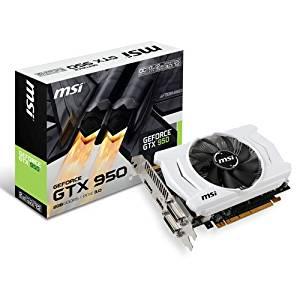MSI GTX 950 2GD5 OC Carte graphique Nvidia GeForce GTX 950 1076 MHz