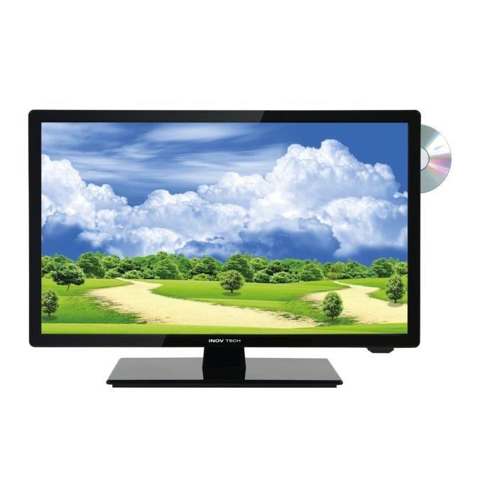 INOVTECH Téléviseur LED Haute Définition Ultra Compact 47 cm + DVD