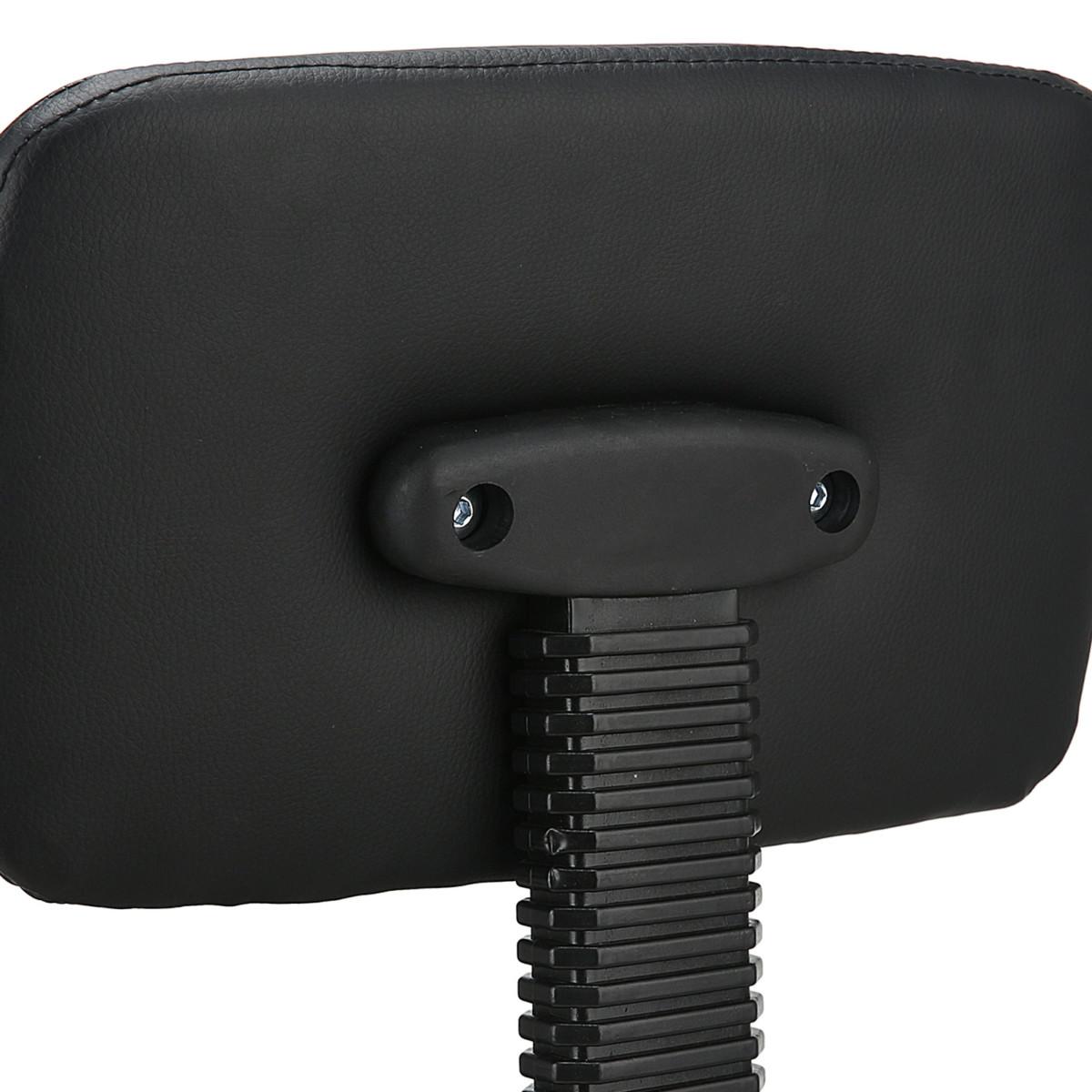 de Bar Salon Chair Noir Chaise Massage Spa avec Dos Amovible Cuir SGS