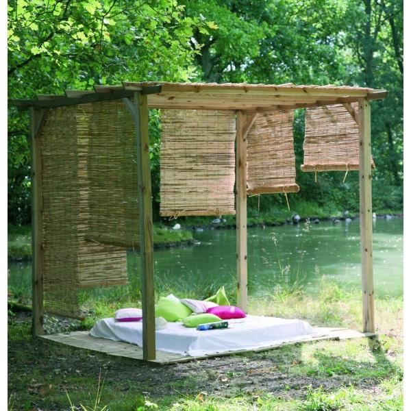 pergola bois topiwall. Black Bedroom Furniture Sets. Home Design Ideas