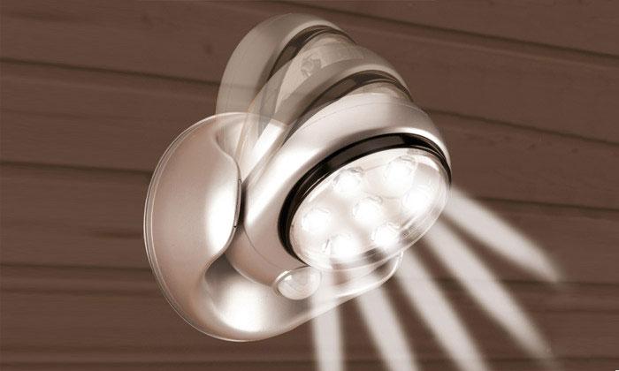 Lampe Led Sans Fil Avec Detecteur De Mouvement Pivotant A 360°