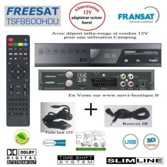 votre Décodeur TNT HD Récepteur Satellite Fransat FREESAT TSF8600HDU