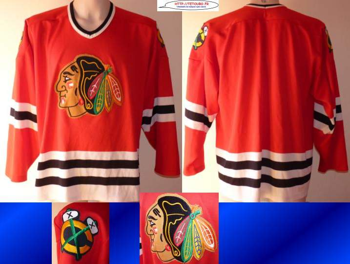 Maillot jersey de hockey sur glace NHL Chicago BLACKHAWKS