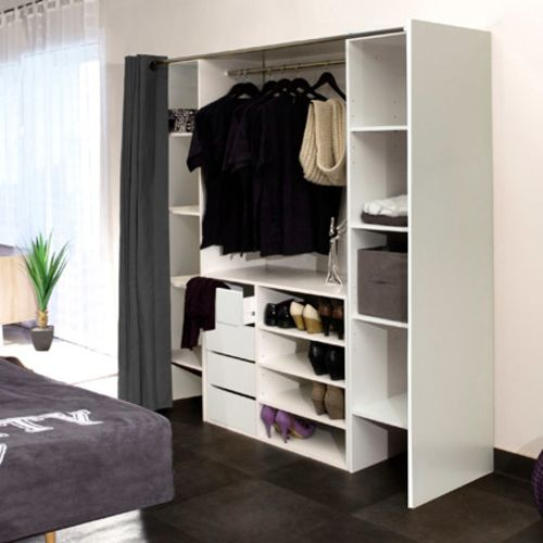 rideaux pour dressing topiwall. Black Bedroom Furniture Sets. Home Design Ideas