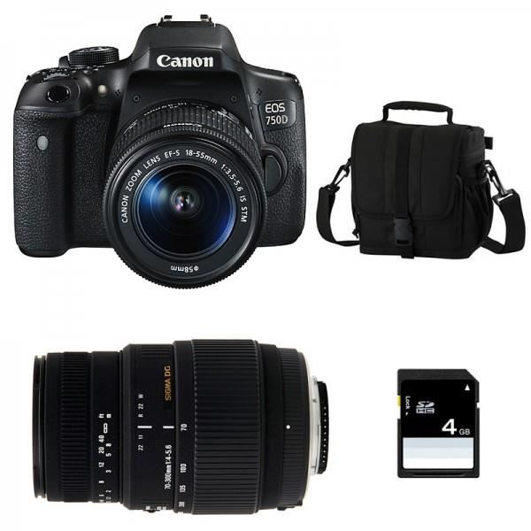 CANON EOS 750D + Objectif EF S 18 55 mm f/3,5 5,6 IS STM + SIGMA 70