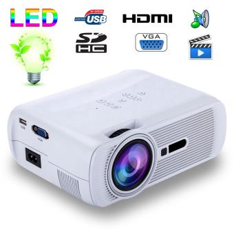 Mini vidéoprojecteur portable LED 1000 Lumens HD Carte SD USB Blanc