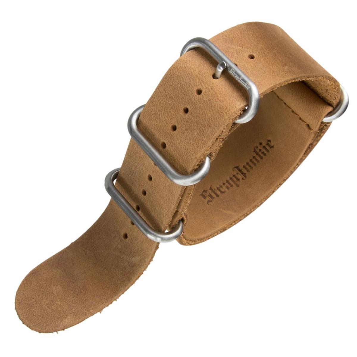 veritable bracelet de montre militaire ZULU IP Noir Ou SATIN 22 24 mm