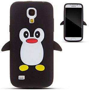 Noir pingouin silicone Coque / Étui / Cover pour Samsung Galaxy S4