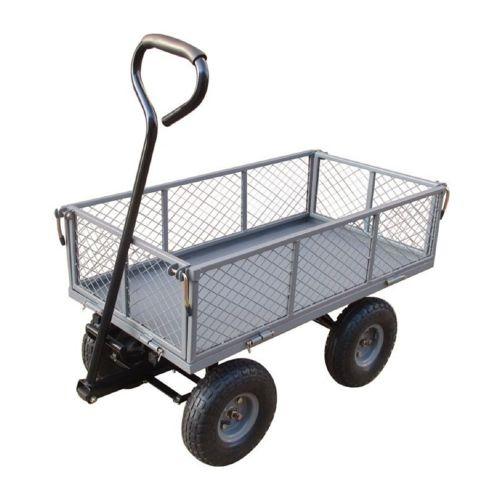 RUE DU COMMERCE Chariot de jardin multi usage à bascule Acier