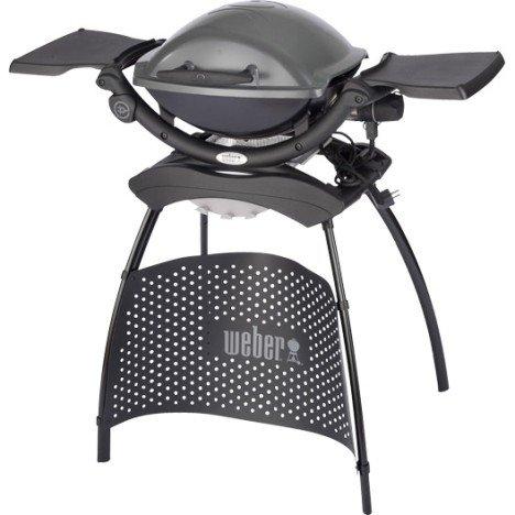 Barbecue électrique WEBER Q 1400 stand, gris anthracite | Leroy