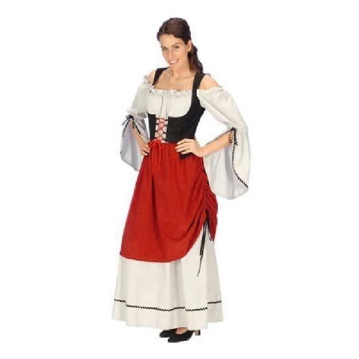Moyen Âge Robe Médiévale Déguisement Servante Femme 40 42