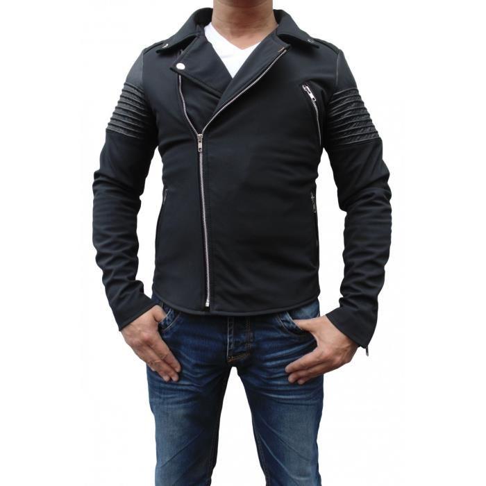 Blouson perfecto cuir pour homme Noir Achat / Vente blouson