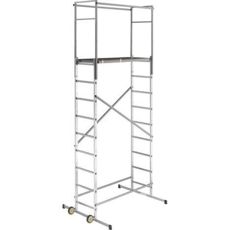 Echafaudage aluminium Hobbystep h5 HAILO hauteur de travail 4.5 m