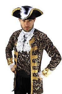 Costume gentilhomme pirate Nobleman Capitaine BAROQUE Caraïbes Moyen