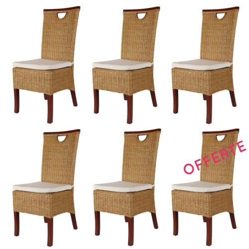 Chaises de salle à manger Lot de 6 pas cher Achat / Vente Chaises