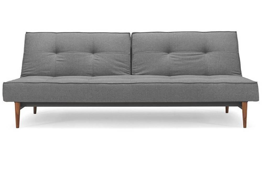 Canape LIT Design Splitback Bois Gris Convertible 115 200 CM