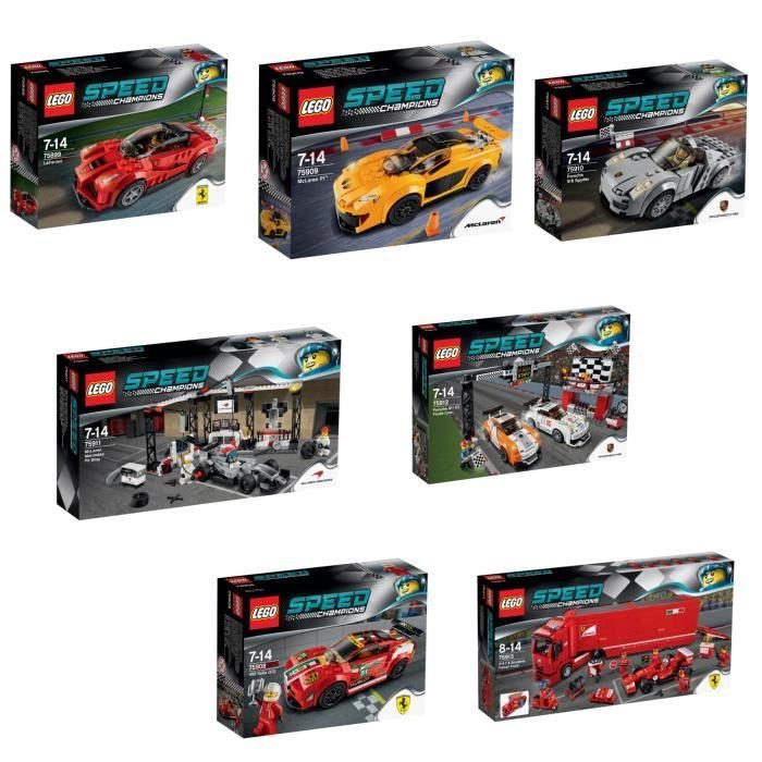 LEGO® Speed Champions Pack Complet Achat / Vente assemblage
