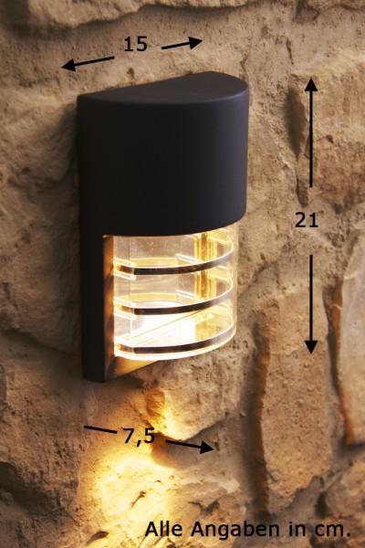 Applique extérieure Lampe de jardin noire Lampe murale Luminaire LED