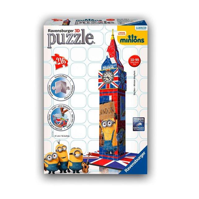 RAVENSBURGER Puzzle 3D 216 pièces : Big Ben Minions
