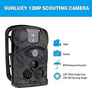 SUNLUXY® 12MP 120°Trail Caméra de Chasse Surveillance Vidéo