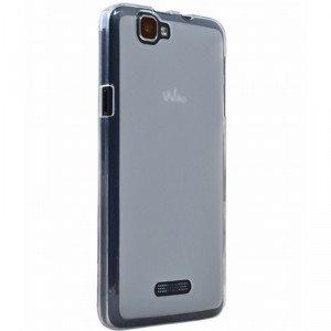 Coque Wiko Rainbow silicone blanc transparent: High tech