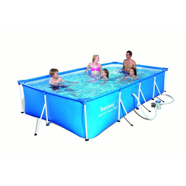 Piscine tubulaire rectangulaire family splash frame pools 399 x 211 x