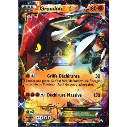 Carte Pokémon Xy42 Groudon Ex 180 Pv Promo Neuf Fr neuf et d'occasion
