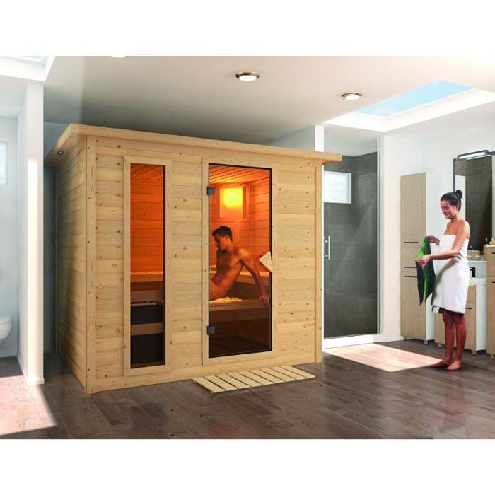 Sauna traditionnel à poêle SONARA 4 personnes ? Achat