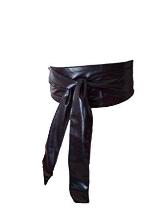 Ceinture Japonaise Faux cuir Noir Taille unique