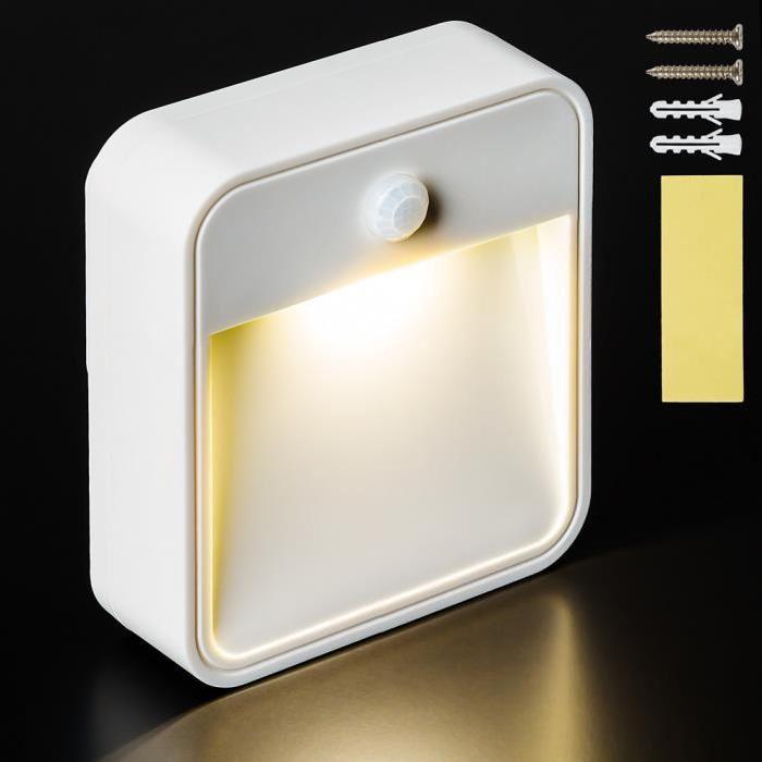 Lampe LED, Lampe murale, Lampe Présence, Veilleuse, Sans Fil, avec