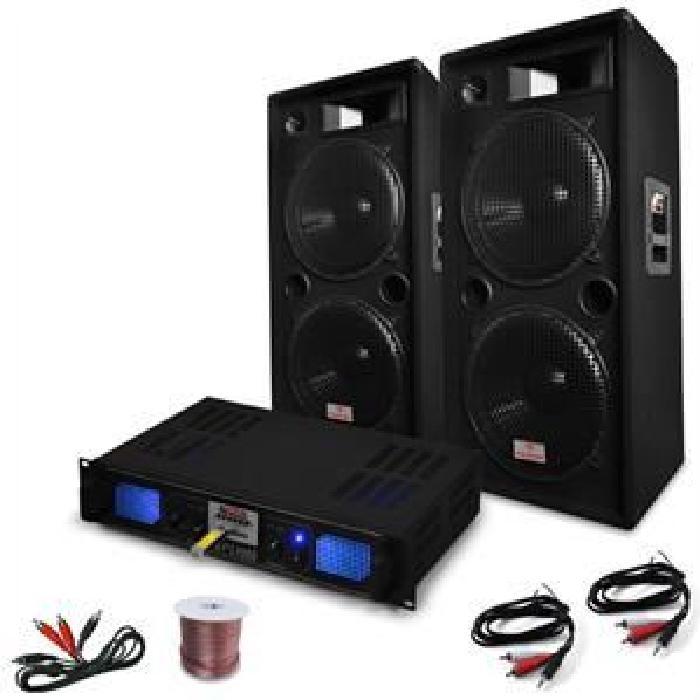 Pack Sono Complet DJ PA Ampli + Enceintes 3000W amplificateur, prix