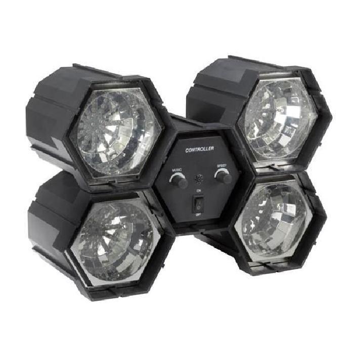 JEU DE LUMIERE CHENILLARD 4 SPOTS 47 LEDs lampe et spot de scène