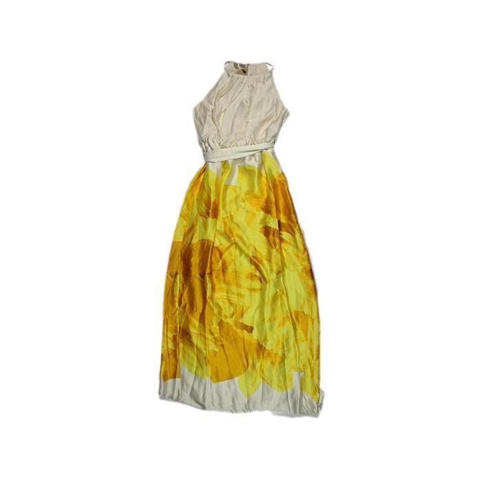 Robe MANGO Jaune Jaune Achat / Vente robe Soldes *