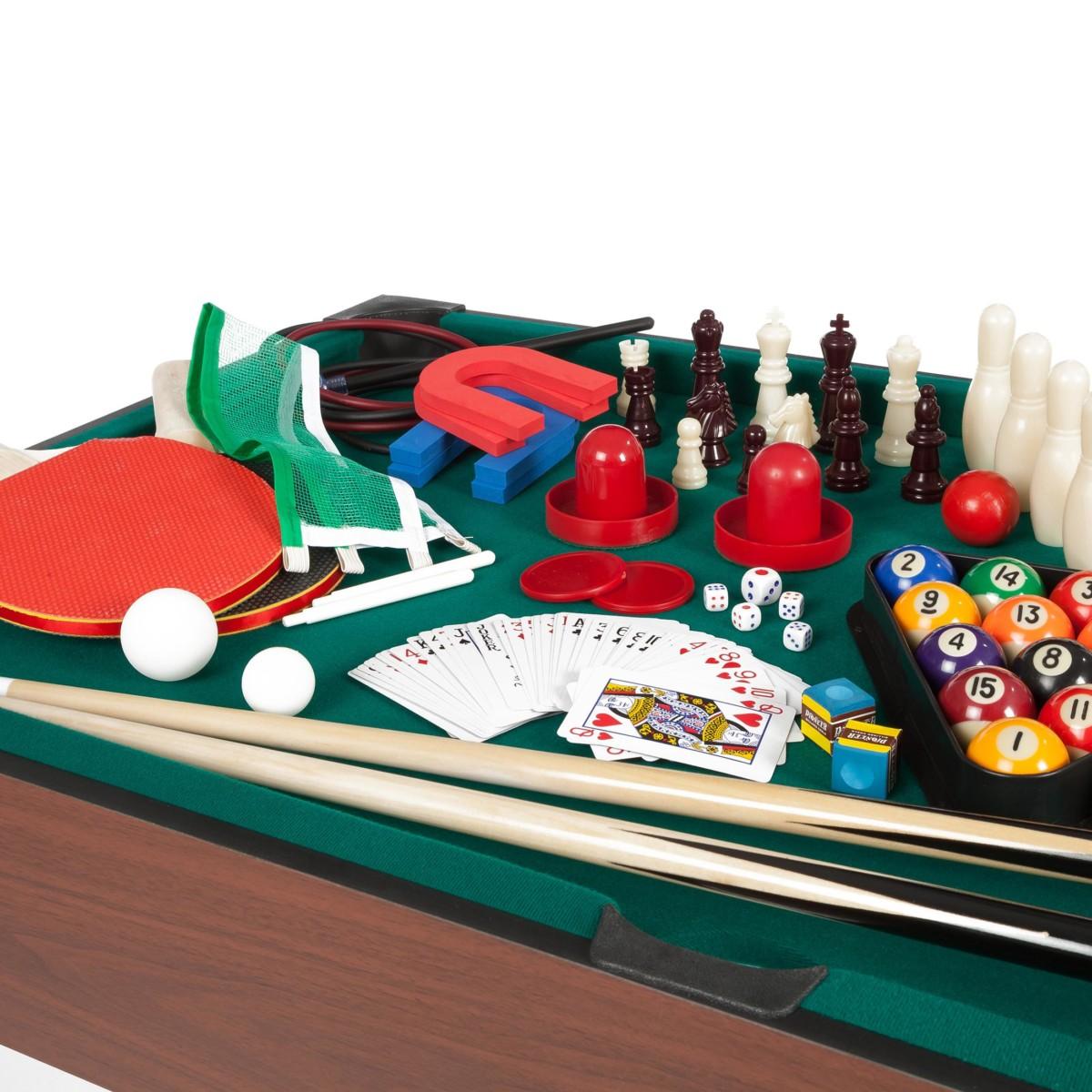 Ultrasport Table de Jeux 12 en 1, Dimensions de la Table : env. 107 x