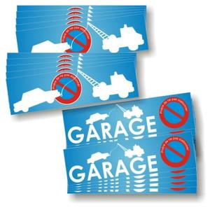 Autocollants Stationnement interdit Parking et Garage Pack de 2