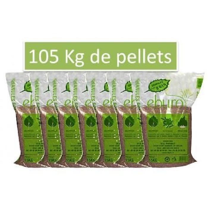 de Pellets granulés bois 105 Kgs 7x Sacs de 15 kg de pellets